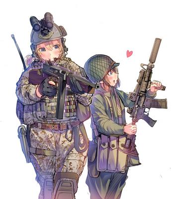 アメリカ軍装娘